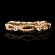 .21ct Diamond 18k Rose Gold Antique Style Wedding Band Ring