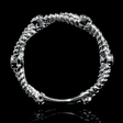 .21ct Diamond 18k white Gold Antique Style Wedding Band Ring