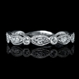 .47ct Diamond 18k White Gold Antique Style Wedding Band Ring