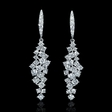 4.31ct Diamond 18k White Gold Dangle Earrings