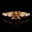 .24ct Diamond Antique Style 18k Rose Gold Engagement Ring Setting