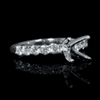 .66ct Diamond 18k White Gold Engagement Ring Setting