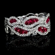 .61ct Diamond and Ruby 18k White Gold Ring
