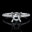 .15ct Diamond 18k White Gold Engagement Ring Setting