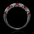 .49ct Diamond and Ruby 18k White Gold Ring