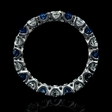 1.31ct Diamond and Blue Sapphire 18k White Gold Eternity Wedding Band.