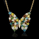 Diamond 14k Rose Gold Butterfly Pendant Necklace