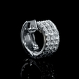.87ct Diamond 18k White Gold Huggie Earrings