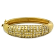 6.19ct Diamond 18k Yellow Gold Bangle Bracelet