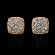 1.58ct Diamond 18k Rose Gold Cluster Earrings