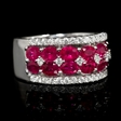 .51ct Diamond and Ruby 18k White Gold Ring