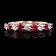 .45ct Diamond and Ruby 18k Two Tone Gold Ring