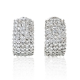 3.47ct Diamond 18k White Gold Earrings