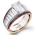 2.32ct Simon G Diamond 18k White and Rose Gold Engagement Ring Setting