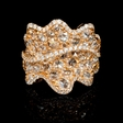 4.38ct Diamond 18k Rose Gold Ring