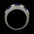 .29ct Diamond and Blue Oval Sapphire 18k White Gold Ring