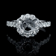 .91ct Diamond Platinum Halo Engagement Ring Setting