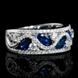 .79ct Diamond and Blue Sapphire 18k White Gold Ring