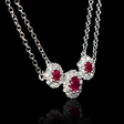 .39ct Diamond and Ruby 18k White Gold Necklace
