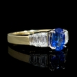.73ct Diamond and Ceylon Sapphire 18k White and Yellow Gold Engagement Ring Setting