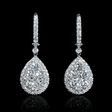 2.06ct Diamond 18k White Gold Dangle Earrings