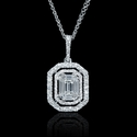 Diamond 18k White Gold Mosaic Pendant