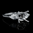 .83ct Diamond Platinum Engagement Ring Setting