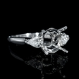 .58ct Diamond Platinum Engagement Ring Setting
