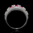 .85ct Diamond and Ruby 18k White Gold Ring