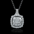 1.54ct Diamond 18k White Gold Pendant