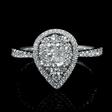 .75ct Diamond 14k White Gold Ring