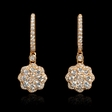 .95ct Diamond 18k Rose Gold Dangle Earrings