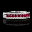 .30ct Diamond and Ruby 18k White Gold Ring