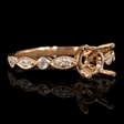.19ct Diamond Antique Style 18k Rose Gold Engagement Ring Setting