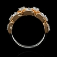 .62ct Diamond 18k White and Rose Gold Ring