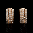 .87ct Diamond 18k Rose Gold Huggie Earrings