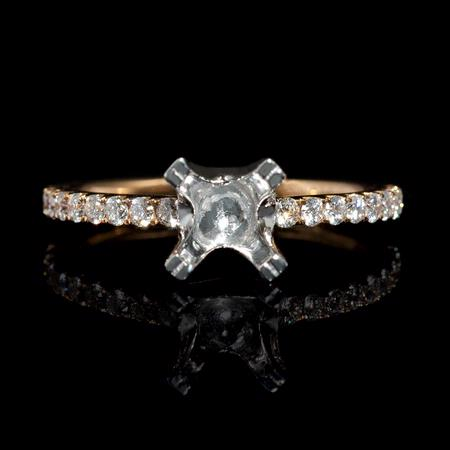 .42ct Diamond 18k Two Tone Gold  Engagement Ring Setting