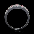 .40ct Diamond and Ruby 18k White Gold Ring