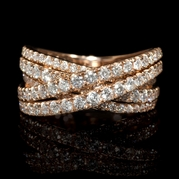 Diamond 14k Rose Gold Ring