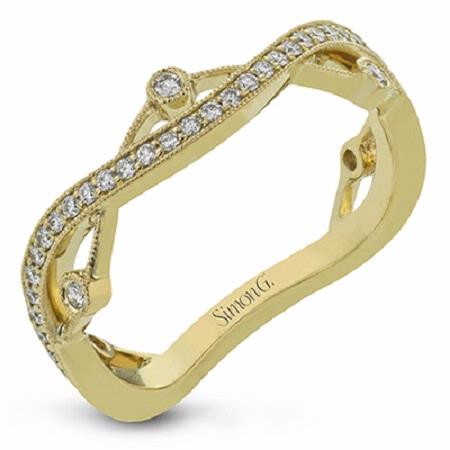 Simon G Diamond 18k Yellow Gold Wedding Band