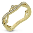 .27ct Simon G Diamond 18k Yellow Gold Wedding Band