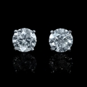 Diamond 2.02 Carats 14k White Gold Stud Earrings