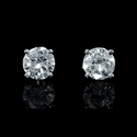 Diamond 1.50 Carats 14k White Gold Stud Earrings