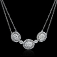 1.28ct Diamond 18k White Gold Pendant Necklace