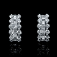 1.19cts Diamond 18k White Gold Huggie Earrings