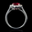.62ct Diamond and Ruby 18k White Gold Ring