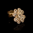 1.14ct Diamond 18k Rose Gold Cluster Earrings