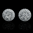 1.61ct Diamond 18k White Gold Cluster Earrings