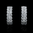 2.04ct Diamond 18k White Gold Huggie Earrings