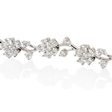 3.95ct Diamond 18k White Gold Floral Bracelet